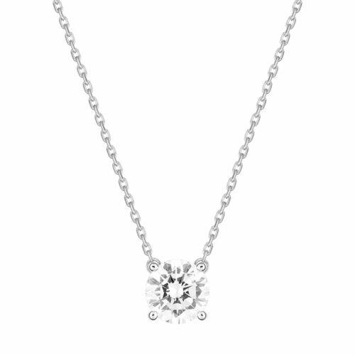Collier Diamant Solitaire Or Blanc