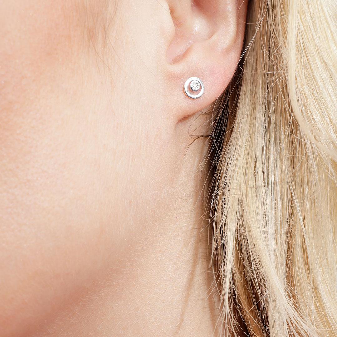 Boucles d'oreilles Diamant Or Blanc