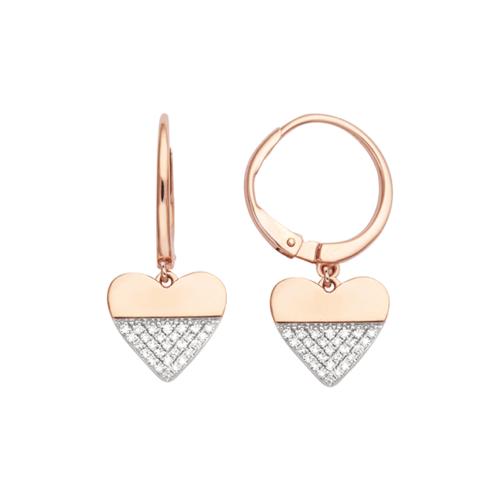 Boucles d Oreilles Créoles Diamant