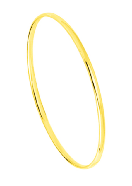 Bracelet Jonc Or Massif Ovale