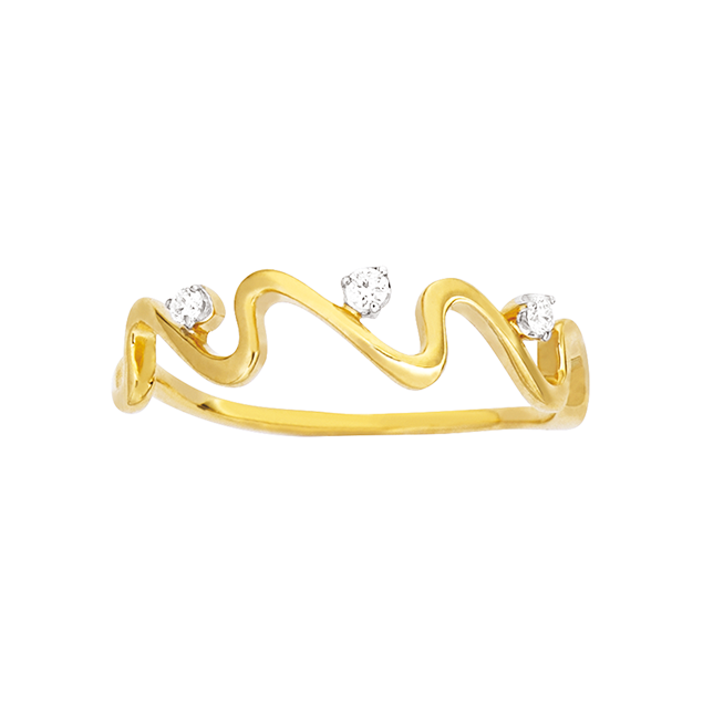 Bague Or Jaune Diamant