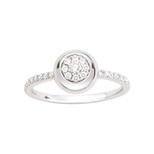 Bague Or Blanc Diamant