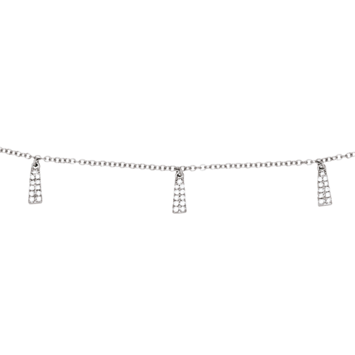 Collier Pampilles Diamant Or Blanc 18 Carats