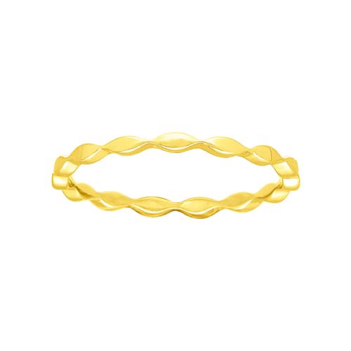 Bague anneau or jaune 18 carats