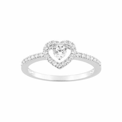 Bague de fiançailles coeur diamant