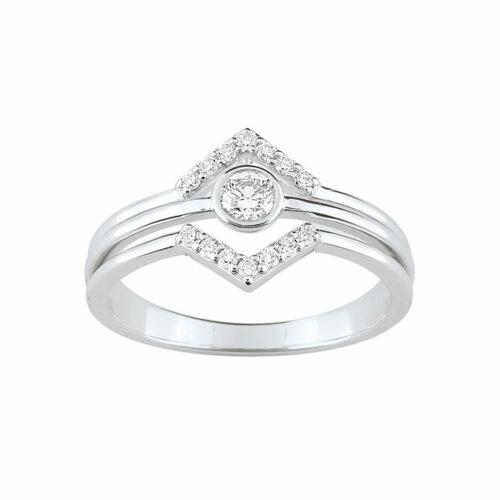 Bague de fiançailles diamant