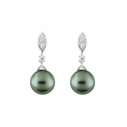 Boucles d'oreilles perle diamant
