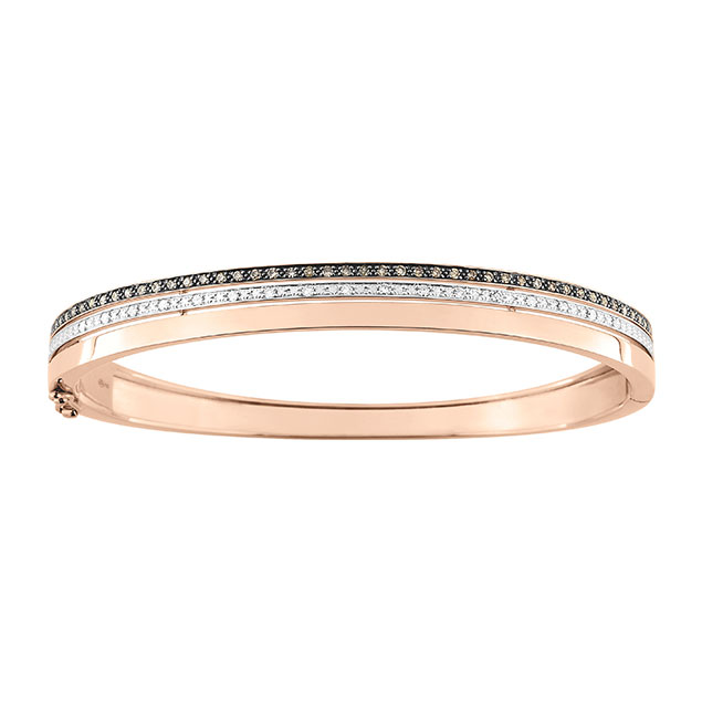Bracelet Jonc Rose Diamant
