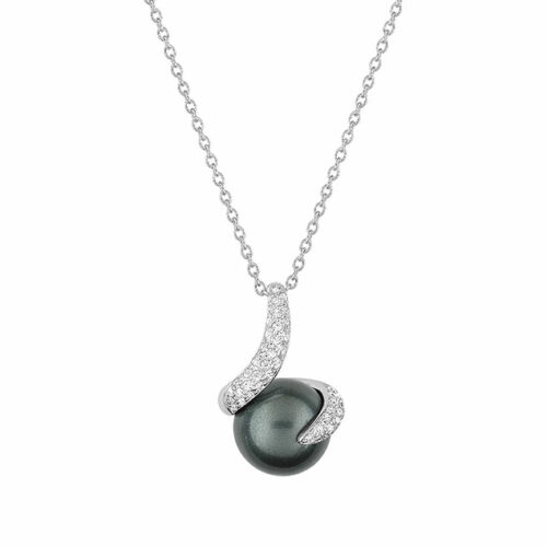 Collier perle diamant