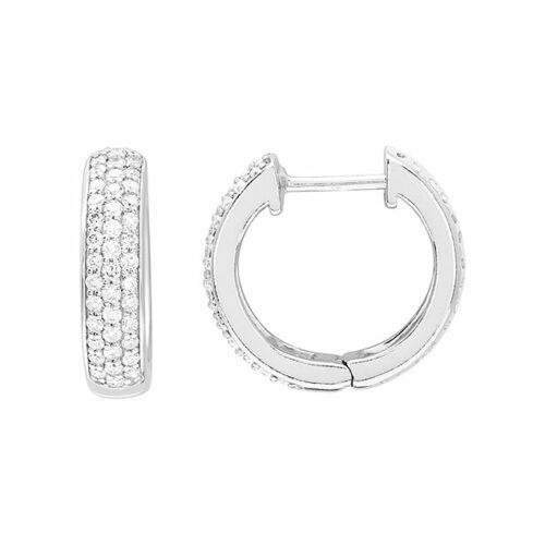 Boucles d'oreilles créoles diamant