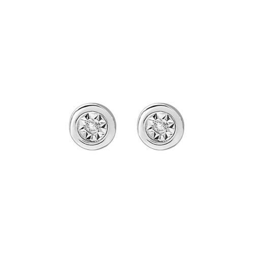 Boucles d'oreilles puces diamant