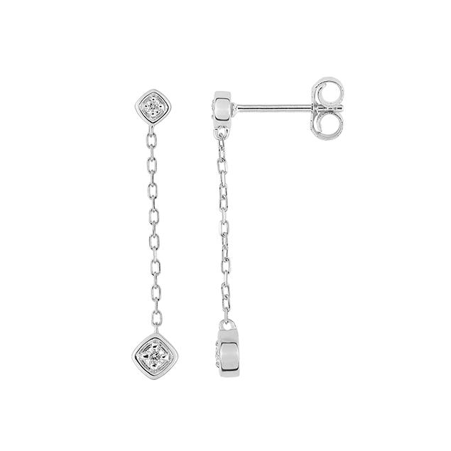 Boucles Pendantes diamant