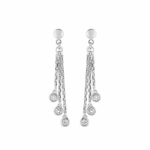 Boucles d'oreilles or diamant