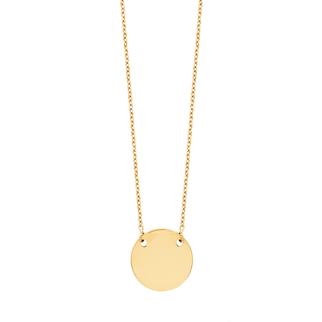 Collier Medaille Or