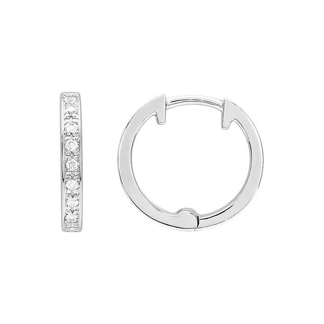 Boucles d'oreilles créoles or diamant