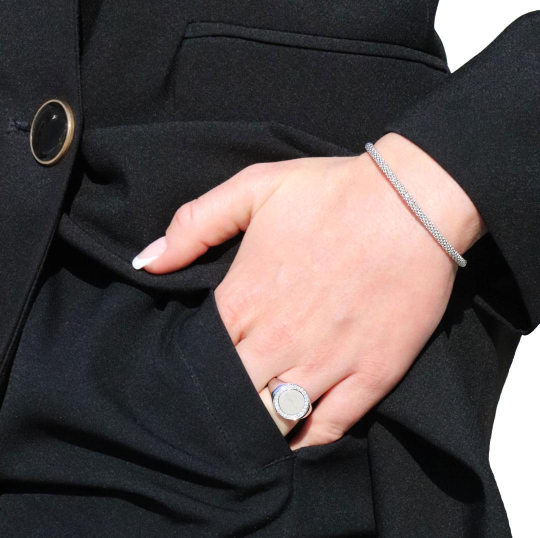 Bracelet Tendance Or Blanc